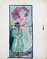 Large Boston Public Garden Sketchbook- Two young girls and a woman with a parasol MET DT3424.jpg