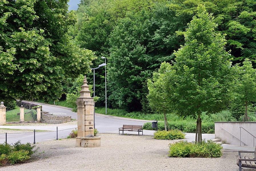 De Saintignon square in Lasauvage, Luxembourg.
