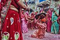 Lathmar Holi is a local celebration of the Hindu festival of Holi which takes in Barsana and Nandgaon.jpg
