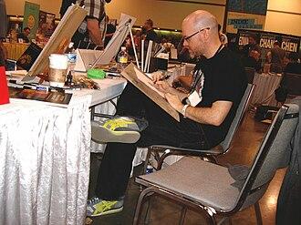 Jason Latour - Latour sketching at Heroes Con 2010