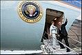 Laura and George Bush board Air Force One in Mar del Plata.jpg