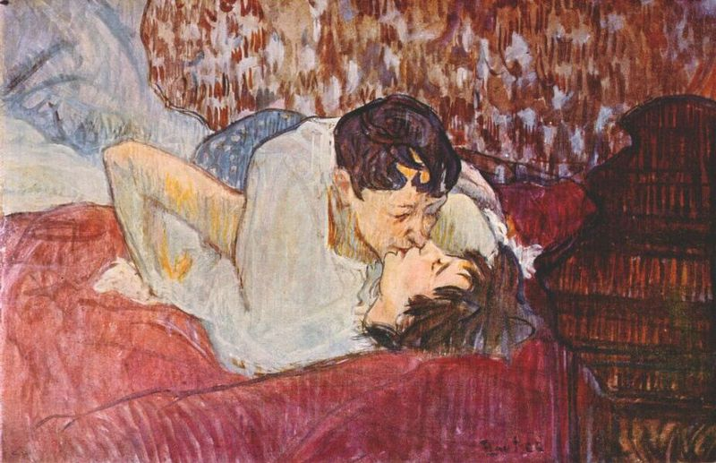 Lautrec the kiss 1892