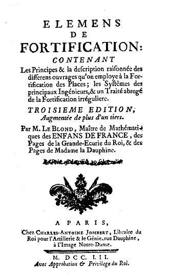 Guillaume Le Blond - Eléments de fortification, 1752