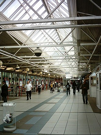 Leeds City bus station - Image: Leeds City Bus Station interior