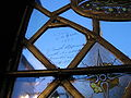 Leicester Guildhall glass graffiti 1.JPG