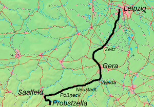 Leipzig–Probstzella railway - Image: Leipzig Gera Saalfeld