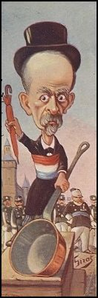 Louis Lépine - A satirical view of Lépine by Sirat from 1904