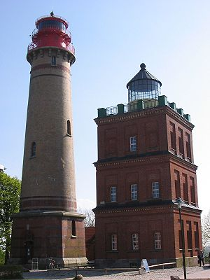 Cape Arkona Lighthouse - The new (left) and old (right) lighthouses