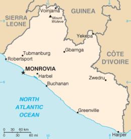 Liberia - Mappa