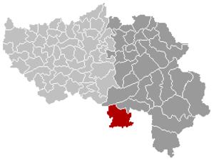 Lierneux - Image: Lierneux Liège Belgium Map