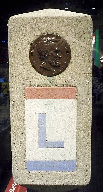 Iowa Primary Highway System - Image: Lincoln Highway marker by Matthew Bisanz