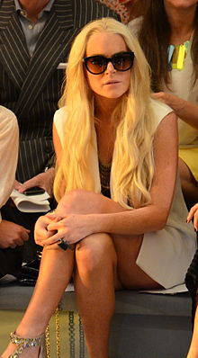 Lohan at the Cynthia Rowley fashion show in 2011