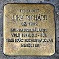 Link Richárd stolperstein (Budapest-13 Visegrádi u 19).jpg