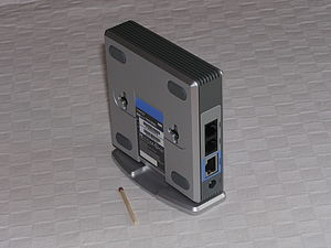 Linksys PAP2 iso external bottom and ports.JPG