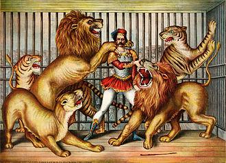 Lion taming - Image: Lion tamer (LOC pga.03749)