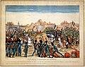 Litografia a colori della battaglia di aboukir in egitto, 1799 ca. 01.jpg