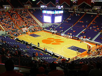 Clemson Tigers - Image: Littlejohn Coliseum from Inside