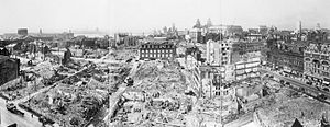 Liverpool Blitz - Another panoramic view, looking towards the River Mersey