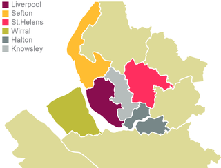 Economic and political area of England centred on the city of Liverpool