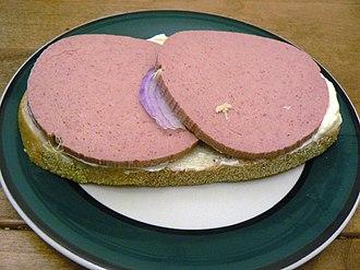 Liverwurst - Slices of liverwurst