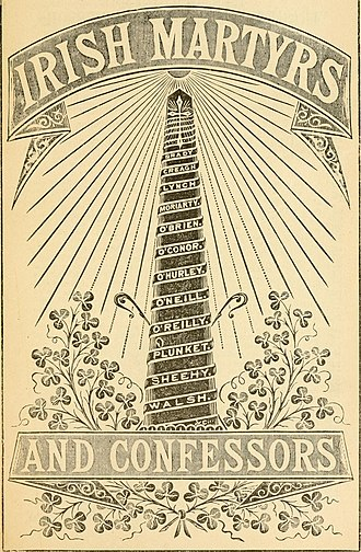 Irish Catholic Martyrs - Cover of Lives of Irish Martyrs and Confessors (1880)