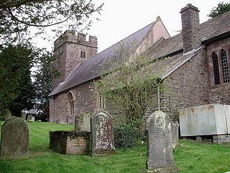 Llangybi, Monmouthshire - Image: Llangybi church