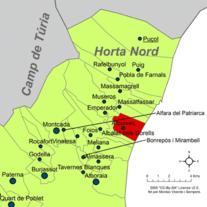 Localització d'Albuixec respecte de l'Horta Nord.png