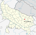 Location of Babri Masjid site map.png