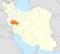موقعیت استان لرستان در ایران.