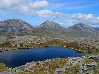 Lochan near the summit of Glas Bheinn - geograph.org.uk - 1450960.jpg