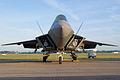 Lockheed-Martin F-22A-30-LM Raptor 05-099 BelowNose Dawn SNF 04April2014 (14399772149).jpg