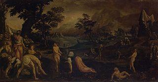Israelites collecting Manna