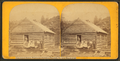 Log school house, teacher and scholars, Underhill, Vt., near Mansfield Mt, by T. G. Richardson 2.png