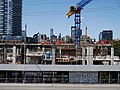 Looking north, at construction NW corner of Lower Jarvis and Queen's Quay, from the grassy knoll at Sugar Beach, 2016-08-07 (3).JPG - panoramio.jpg