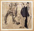 Lorenzo viani, uomo in catene spezzate, rospo e borghesi, 1907-08, china su carta, coll. privata.JPG