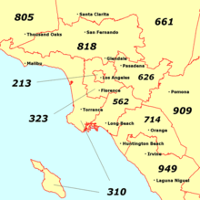 Los Angeles Map By Zip Codes.Southern California Wikipedia