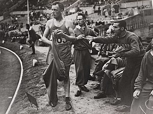 Louis Chevalier (racewalker) - Louis Chevalier is disqualified during heat two of the 10K walk held at Wembley