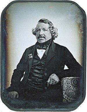 Daguerreotype of Louis Daguerre in 1844 by Jea...