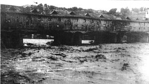 Covered Bridge, Lovech - The original bridge before the fire in 1925