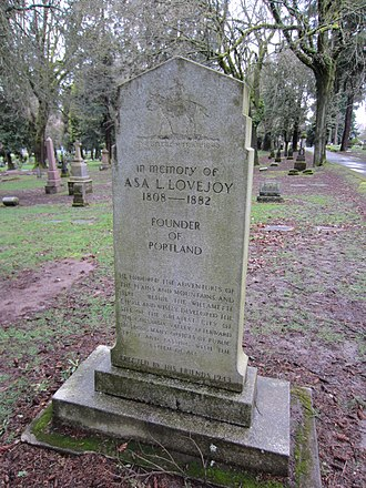 Asa Lovejoy - Image: Lovejoy, Asa L. at Lone Fir Cemetery