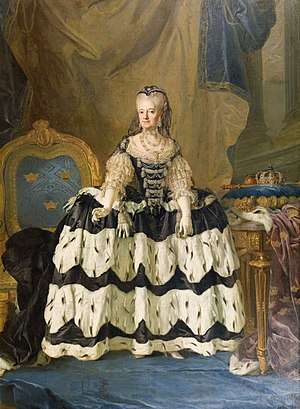 Gustav Badin - Louisa Ulrika of Prussia by Lorens Pasch the Younger.