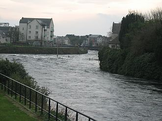 River Corrib - Looking south from the Salmon Weir Bridge
