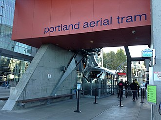Portland Aerial Tram - The terminal at South Waterfront