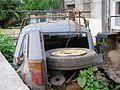 """Lublin - zdelezowany """"Maluch"""" Fiat 126p (01) - DSC00405.jpg"""