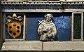 Luca della robbia il giovane, natività con adorazione dei pastori, 1515 ca. 04 stemma medici e san francesco.jpg