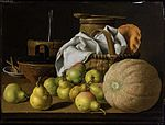 Luis Melendez, Still Life with Melon and Pears, oil on canvas, Museum of Fine Arts, Boston.jpg