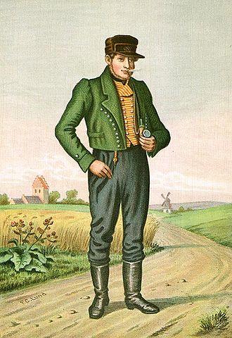 Danish folklore - Image: Lund Bonde fra Sjælland