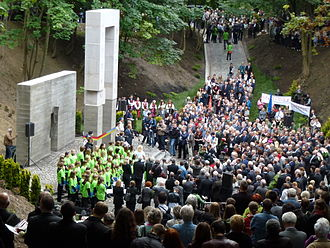 Massacre of Lwów professors - Unveiling of a new monument at the place of execution at Wuleckie Hills on 3 July 2011