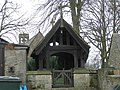 Lych Gate , St. Mary , Hutton Magna. - geograph.org.uk - 145615.jpg