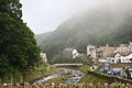 Lynmouth with the fog coming in, Exmoor, Devon (2545924662).jpg